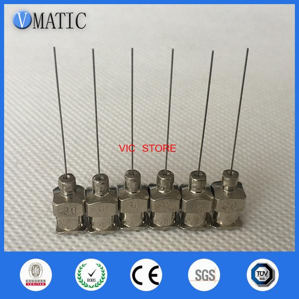 12PCS- 1inch Tip Length 30G Blunt Stainless Steel Dispensing Needles Glue Dispensing Tip
