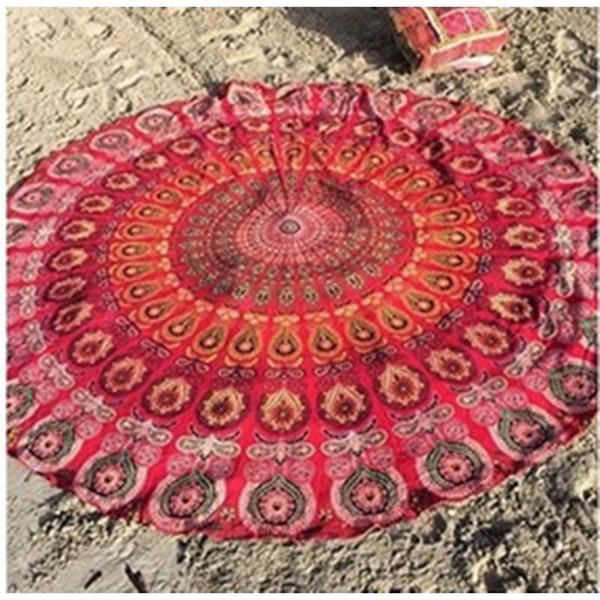 Indian Tapestry Wall Hanging round lotus flower shape mandala indian tapestry wall hanging