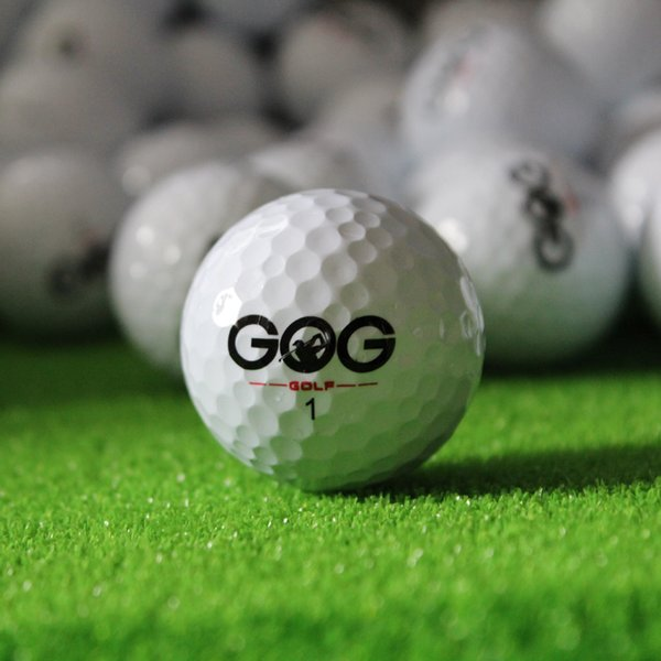wholesale- new 2pcs golf balls beginners practice driving range training double layer ball rubber sale