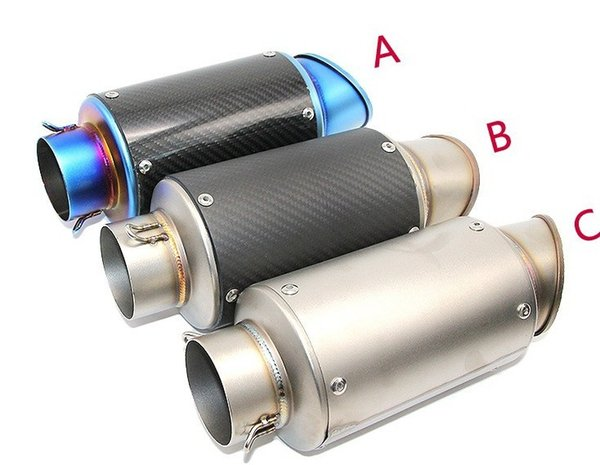 60mm Connection Motorcycle Exhaust Muffler Silencer KAWASAKI Z800 R3 R6 High Quality Stainless Steel Nice Sound