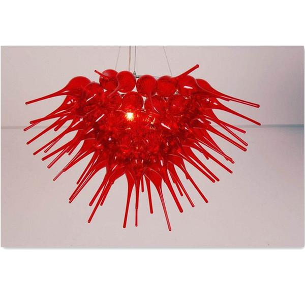 lmpara de techo de color rojo lmpara de vidrio soplado decoracin de comedor decoracin artesana