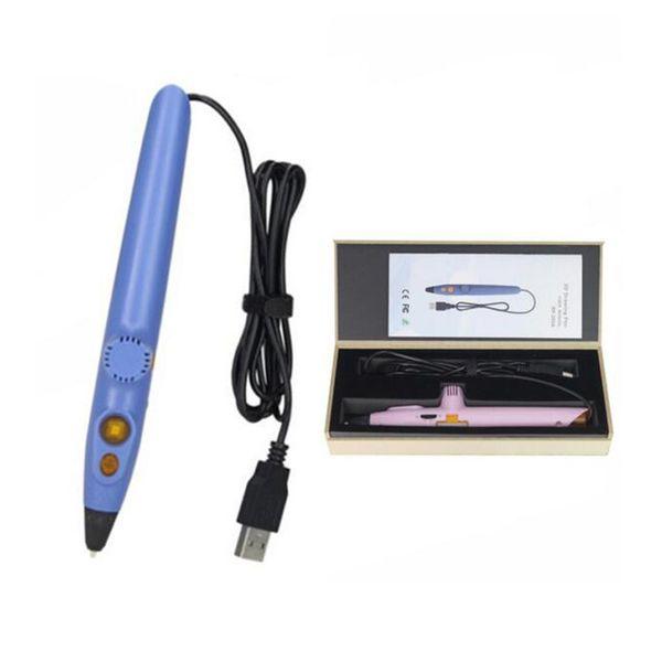 Myriwell Pluma de dibujo 3d Protección de baja temperatura Usando material PCL 5V 2A USB 3D Plumas con embalaje al por menor