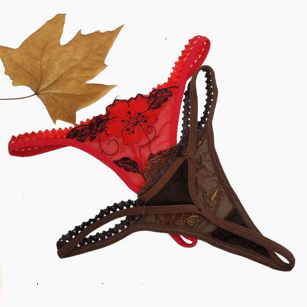 Laceflower kadın Seksi dantel Thongs G-String İç Külot Bayanlar Için Külot T-geri, Ücretsiz Shiping 1 adet / grup, 1704