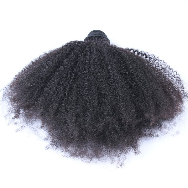 Mongolian Afro Kinky Curly Human Hair Bundles 1 Piece Virgin Kinky Curly Hair Weft 100g/pc Indian Brazilian Peruvian Malaysian Human Hair