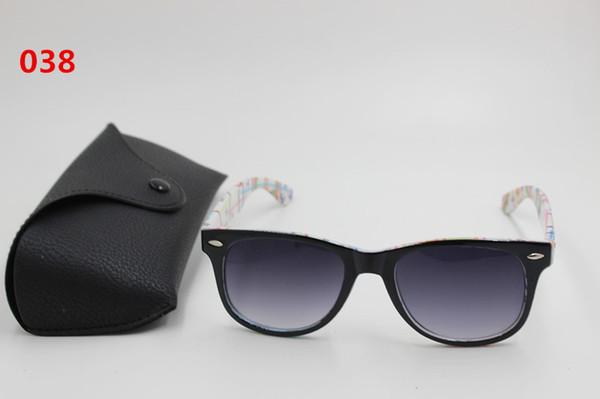 Free shipping 1 pcs high quality men and women fashion sunglasses black framework black lens 51 mm UV400 black box