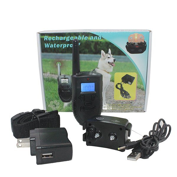 Anti-barking Dog Training Collar Harmless Rechargeable and Rainproof 330yd Remote Distance Dog Collar Suit for All Size Dogs (10-100 Pounds)