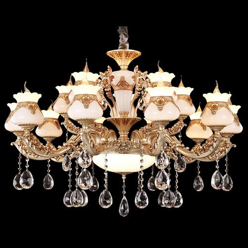 Chandeliers lights led European American luxury royal retro led chandelier led pendant lights for hotel villa Penthouse home decoration