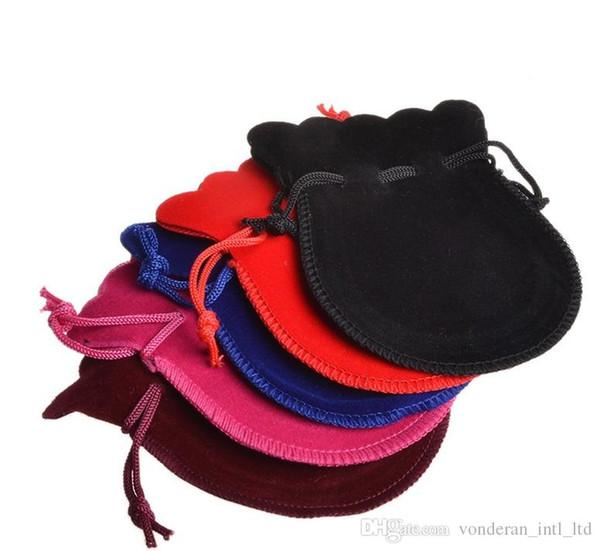 7 * 9 cm Gourde Velours Cordon Sacs Anneaux Pochettes Sacs Bijoux Emballages Pochettes créatives cadeau pack sacs en gros