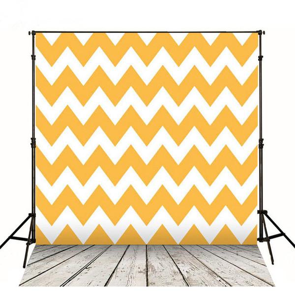 5x7ft оранжевый Шеврон фоны фотографии обратно капли винил ребенок День Рождения цифровые фоны деревянные доски пол