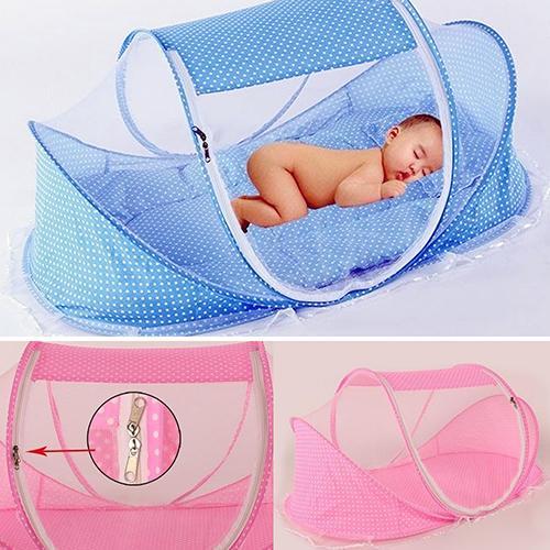 Lit bébé gros-pliant été anti-moustiquaire modélisation matelas oreiller tente berceau