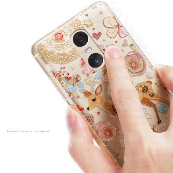 For Xiaomi Redmi Pro Case Vpower 3D Relief Soft Case For Xiaomi Redmi Pro /Hongmi Pro Phone Cover (5.5inch) + finger ring holder