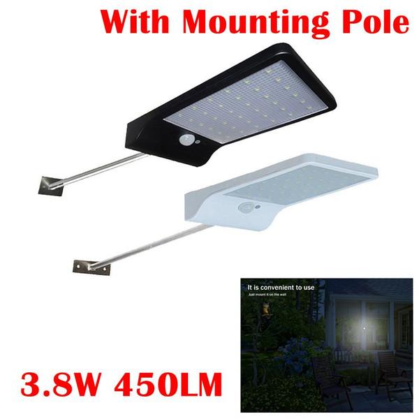 Umlight1688 5 SETS 450LM 36 LED Solar-Straßenleuchte PIR Bewegungs-Sensor-Licht-Garten-Sicherheits-Lampe Outdoor Street Wasserdichte Wandleuchten