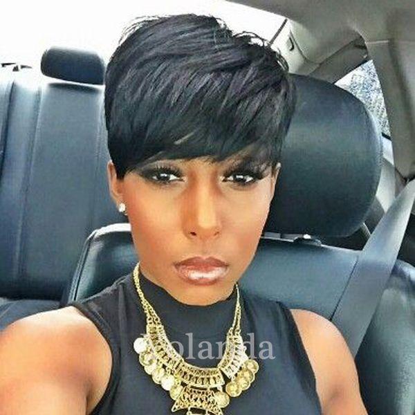 Celebrity Wig for Women Pixie Human Hair Wig Short for Black Women Rihana Cheap 100% Virgin Brazilian Hair Pixie Cut wigs