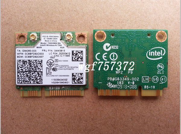 For Thinkpad S1 Y510P Wireless-N LAN Intel 7260hmw BN FRU 04W3815 Bluetooth 4.0 BT Intel Adapter Card