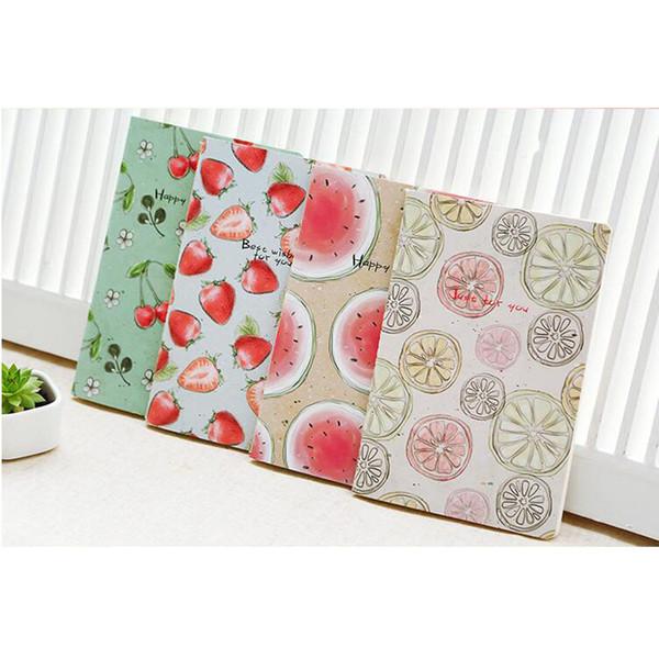 Al por mayor-Q22 1X Kawaii linda fruta portátil suave cuaderno papelería diario Sketchbook School Planner regalo del estudiante