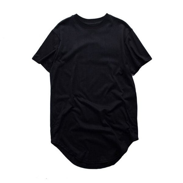 Fashion Men Extended T Shirt Longline Hip Hop Tee Shirts Women Justin Bieber Swag Clothes Harajuku Rock Tshirt Homme