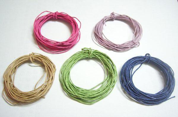 50Yards/lot 1mm Mixed Colors Cotton Waxed Cord For DIY Craft Jewelry Findings Components WC0 Free Shipping