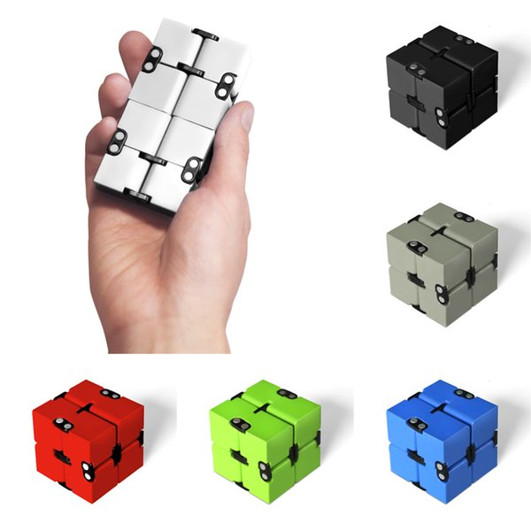 Infinity Cube Mini Fidget Toy Finger EDC Anxiety Stress Relief Magic Cube Blocks Adult Children Kids Funny Toys With Retail Box LA554