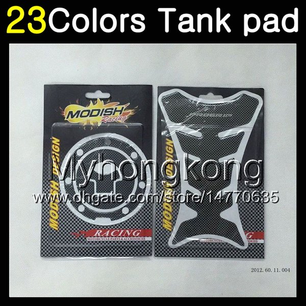 23Colors 3D Carbon Fiber Gas Tank Pad Protector For HONDA CBR600F4 99 00 99-00 CBR600 F4 CBR 600 F4 CBR 600F4 1999 2000 3D Tank Cap Sticker