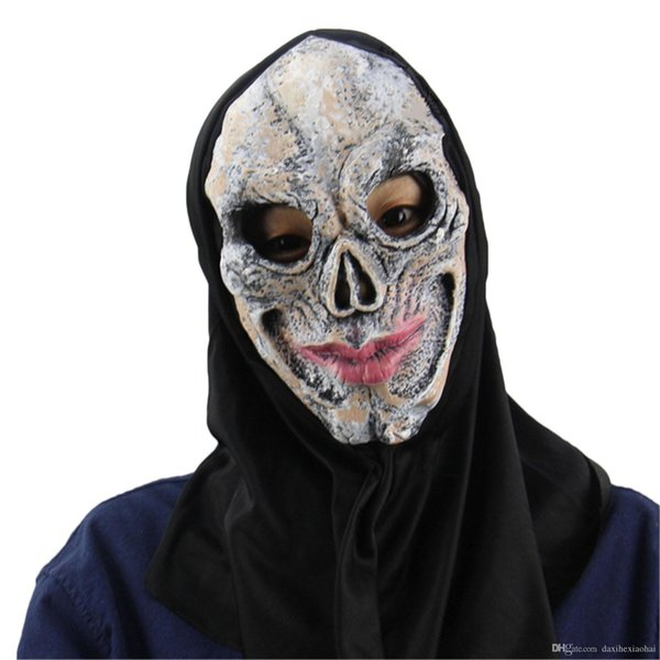 New Halloween Horror Masks Red Lips Skeleton Witch Horror Party Scary Mask Cosplay Prop Fancy Dress Decor