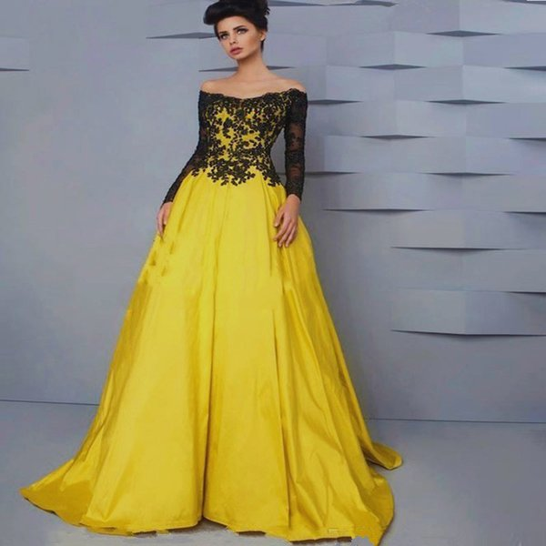 Evening dress with lace bodice evening