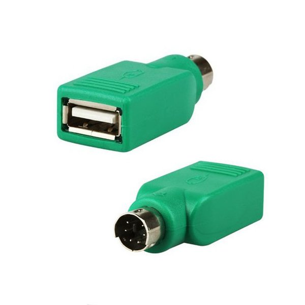 Al por mayor- 1PCS USB hembra para PS2 PS / 2 convertidor de adaptador masculino ratón Ratones del teclado