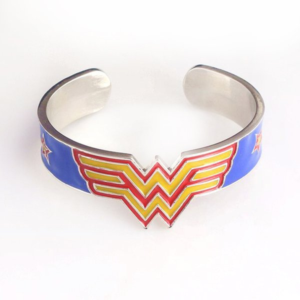 Movie Jewelry Wonder Woman Cuff Metal Bracelet Bangles High Quality Good Christmas Gift
