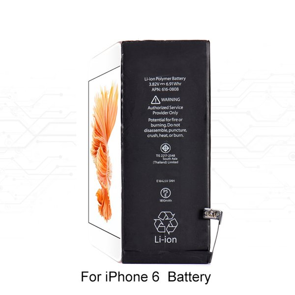 Batteria al litio integrata per telefono cellulare originale per iPhone 4 4s 5 5s 5c Batteria interna di ricambio per iPhone 6 6s 7 7 plus 8 +
