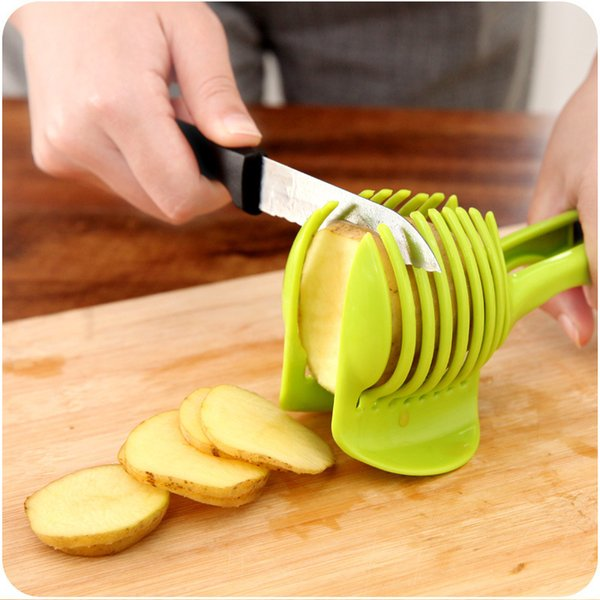 Tomato Slicer ABS Plastic Potato Cutter Kitchen Gadgets Lemon Orange Fruit Vegetable Holder Slicers Triturador Cooking Tools