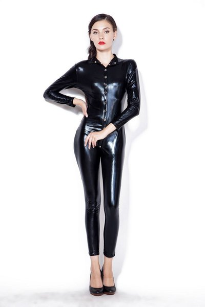 New Latex Pole Dance Clothes Women Sexy Rubber Costumes Catsuit Clubwear Jumpsuit Erotic Lingerie Stripper Wear