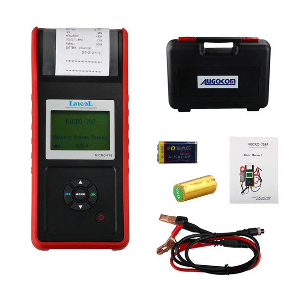 2016 AUGOCOM MICRO-768 Battery Tester Conductance Tester for Automobile Factory/Car Repair Workshop/Car Battery Manufacturer
