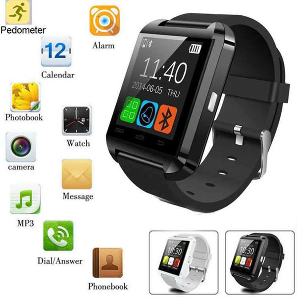 U8 Smart Watch Bluetooth Altimeter Anti-lost 1.5 inch Wrist Watch For Smart phones iPhone Android Samsung HTC Sony With retail pack