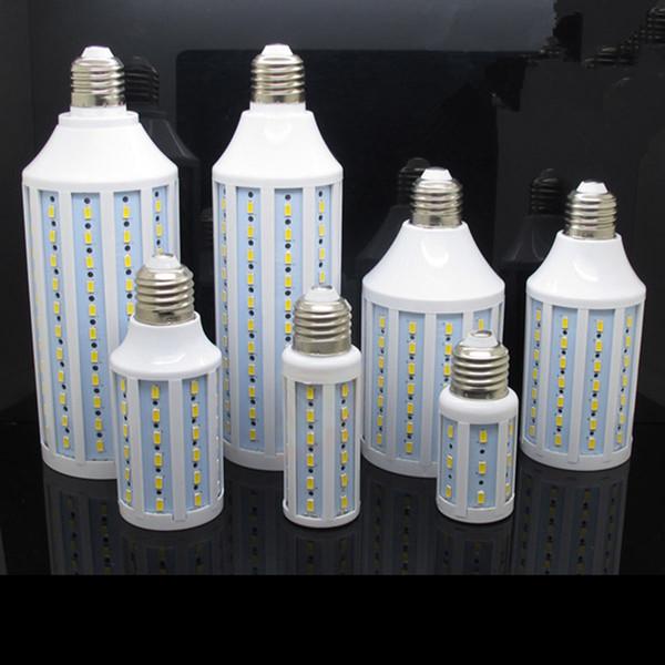 top popular LED Corn Light Lamp E27 B22 E14 5050SMD 5W 7W 10W 15W 18W 24W 30W Bulb 110V 220V Super Bright 360 Angle Warm Pure White Led Bulb Lights 2019