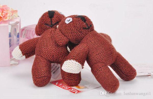 10 cm Komik Mr Bean Dolması Peluş Oyuncak Ayı Anahtarlık Dolması Hayvanlar Teddy Bear Bebekler Küçük Kolye Sevimli Peluş Oyuncaklar