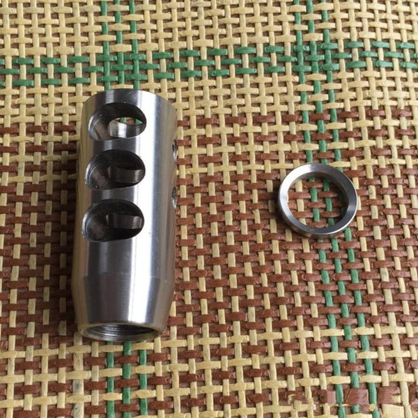 top popular Stainless Steel 1 2-28 Thread .223 Competition Muzzle Brake,Free StainlessWasher 2019