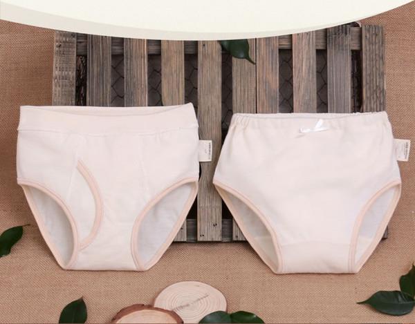 top popular Children's Cotton Solid Briefs Boy Girl Underwear Baby Breathable Panties Kid's Shorts Spring Summer Autumn Winter 2019
