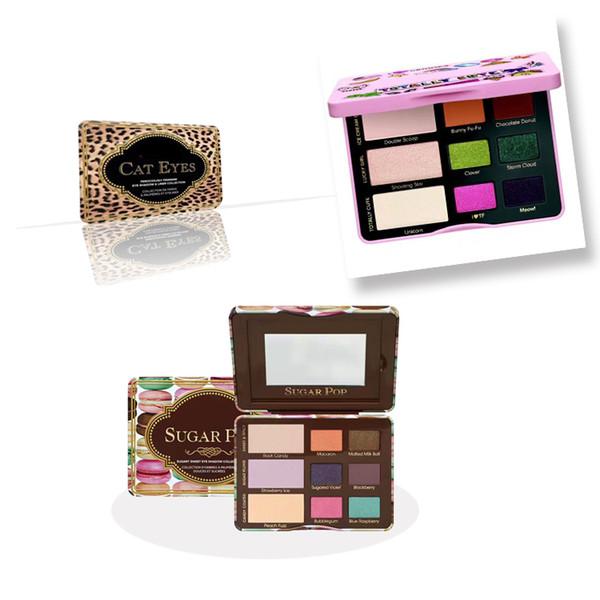 2017 Sugar Pop Eyeshadow Totally Cute Eyeshadow Cat Eyes Eyeshadow 9 COLORS Palette Blush face Cosmestics Makeup DHL