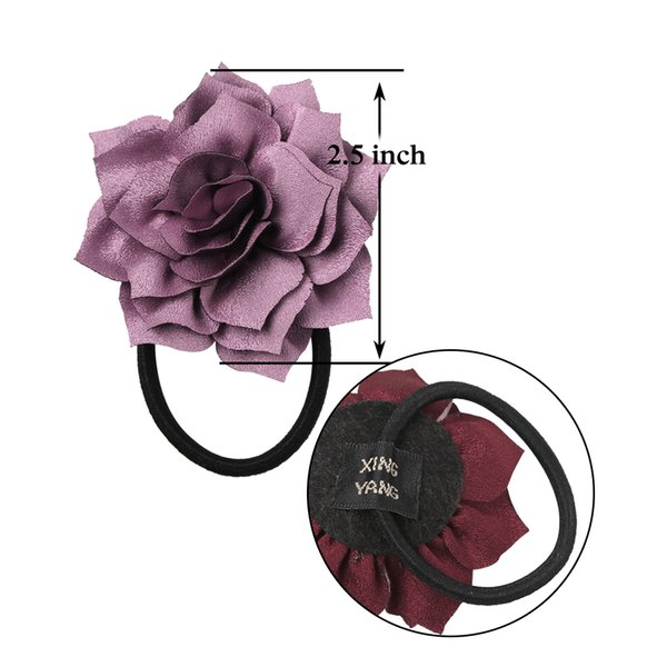 2//5//10Pcs Girls Fashion Headwear Elastic Hair Rope with Flowers Random