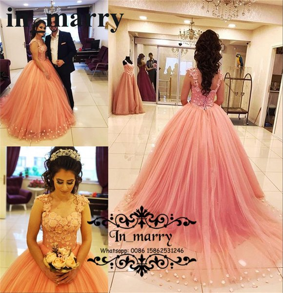 Arabic Design Ball Gown Prom Queens Dresses