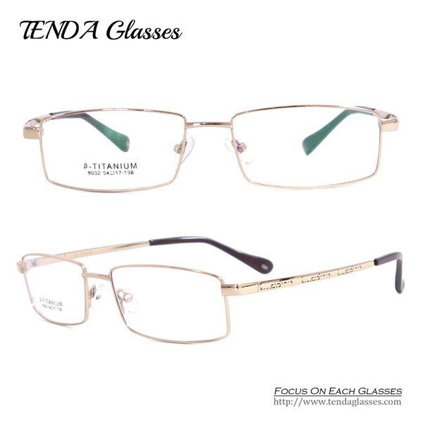 Toptan-Esnek Titanyum Gözlük Çerçeveleri Reçete Gözlük Erkek Gözlük Okuma Miyopi Lens Için