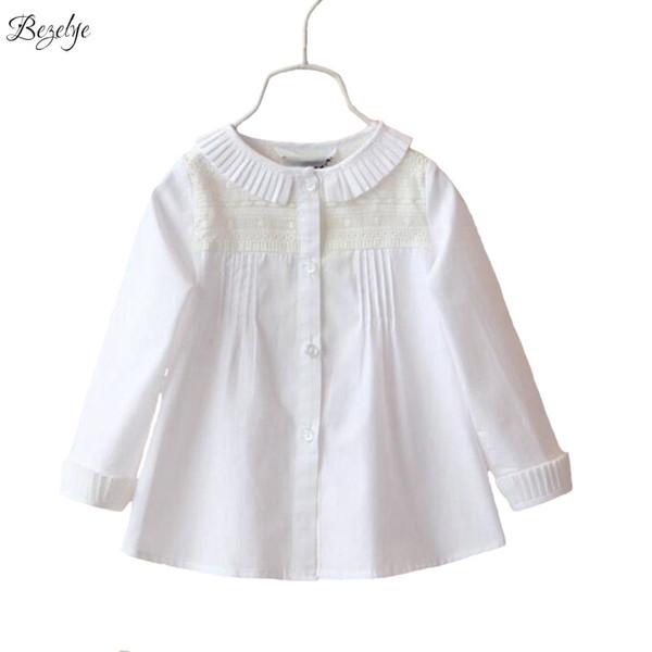 código promocional caf76 114af Compre Blusas Blancas Para Niñas Blusas Y Blusas Para Niños Camisas Para  Niñas Blusa Blanca Camisa De Manga Larga Blusas De Encaje Para Niña A  $12.86 ...
