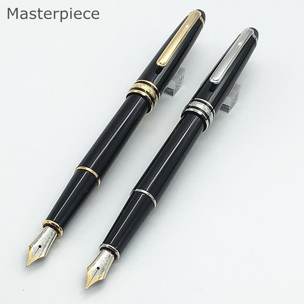 top popular Luxury pen masterpiece 163 & 164 black resin classic fountain writing pen 4810 middle nib ink converter pen 2019