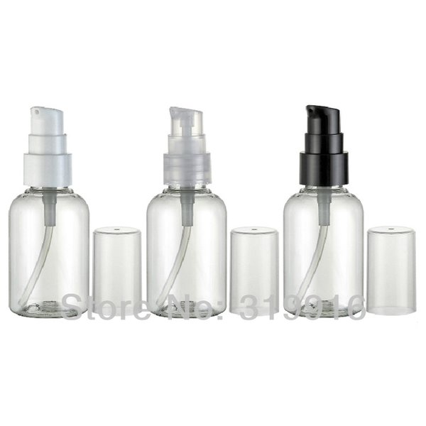 wholesale 50ml small empty PET plastic cream lotion travel bottles containers for cosmetics ,small cream pump bottle 100pc/lot