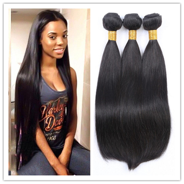 2016 New 100 Human Hair Extensions Straight Hair Extensions Sew In