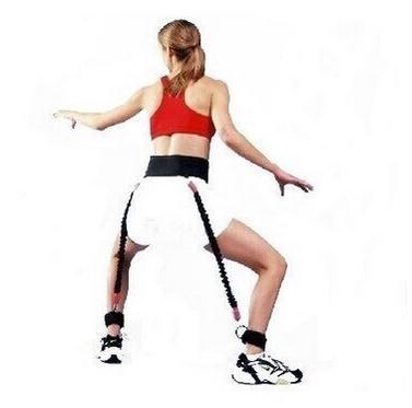 Equipo de entrenamiento de rebote de la pierna Resistencia del boxeo Cuerda de la reunión Cuerda de la tracción del rebote de la aptitud