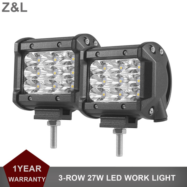 4inch 27W offroad LED lumière de travail 12v 24v voiture SUV moto off-road vtt phare 4x4 4WD camion spot lampe de brouillard d'inondation