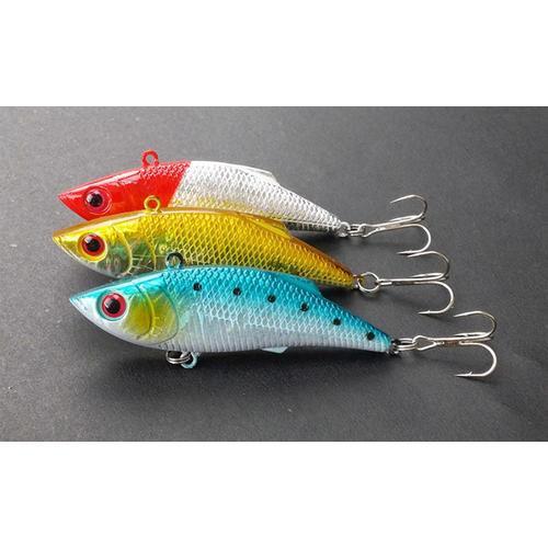 Esche da pesca Crankbaits Ganci Esche da pesca Minnow da 3 pollici / 7.5 cm Esche da pesca in acciaio inossidabile