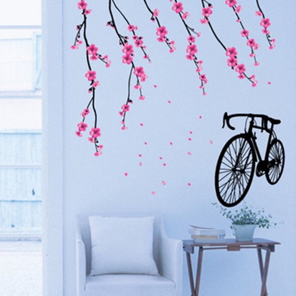 Bicycle Wall Stickers Children Removable Wallpaper Children Kid Room Cute Hot Sale Decor Large Paper Adhesive Decoration Home