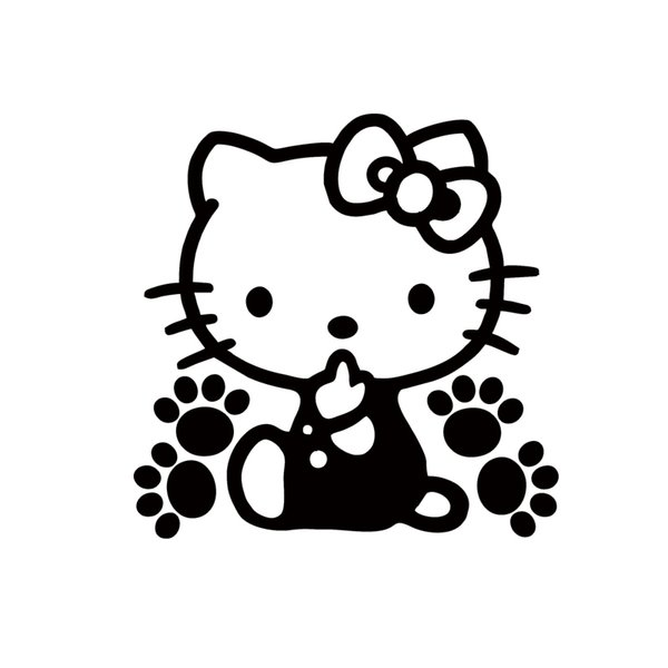 Hot Sale Cool Graphics Cute Cat Vinyl Car Accessories Creative Stickers Decorative Stickers Car Window Decals Jdm