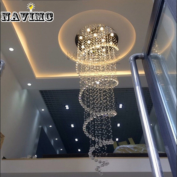 Modern Luster Crystal Chandeliers Lighting Dia80cm Fitting LED Pendant Lamp For Foyer Dining Room Restaurant Decoration